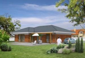Parametry projektu rodinného domu bungalov 468