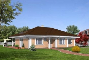 Parametry projektu rodinného domu bungalov 766